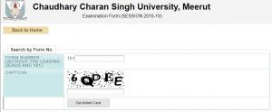 CCS University Admit Card 2019 1st 2nd 3rd Year Admit Card